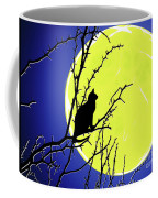 Solitary With Golden Moon Coffee Mug