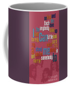 Somebody To Love. Queen. Typography Art. Gift For Music Fans Coffee Mug