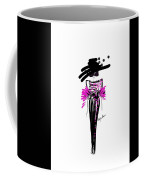Sophisticated In Pink And Black Silk  Coffee Mug