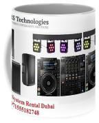 Sound System Rental Dubai - Rent,lease,hire Sound System Dubai Coffee Mug
