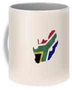 South Africa Map Art With Flag Design Coffee Mug