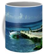 South Caye Belize Boat Dock Coffee Mug