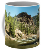 South Platte In Heavy Spring Flows And Wind Coffee Mug