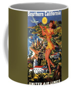 Southern California - United Air Lines - Retro Travel Poster - Vintage Poster Coffee Mug