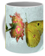 Southern Dogface Butterfly Feasting On December Lantanas Austin V2 Coffee Mug