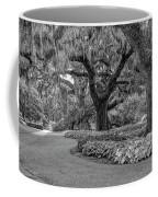 Southern Oaks In Black And White Coffee Mug