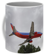 Southwest Airlines 737 On Approach Into Las Vegas Nv Coffee Mug