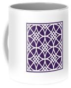 Southwestern Inspired With Border In Purple Coffee Mug