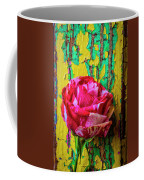 Soutime Rose Against Cracked Wall Coffee Mug