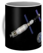 Soyuz Deep Space Explorer Docked Begins Coffee Mug