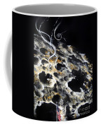 Space Art. Moon And Us Flag Coffee Mug