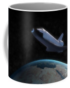Space Shuttle Backdropped Against Earth Coffee Mug