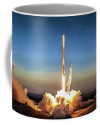 Spacex Iridium-5 Mission Falcon 9 Rocket Launch Coffee Mug