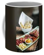 Spanish Smoked Meats Ham And Cheese Platter Starter Dish Coffee Mug
