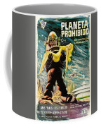 Spanish Version Of Forbidden Planet In Cinemascope Retro Classic Movie Poster Coffee Mug