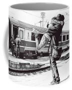 Sparkle At The Train Station - Ballpoint Pen Art Coffee Mug