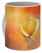 Sparkly Peach Rose Coffee Mug