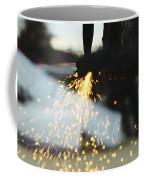 Sparks From Cutting Metal Coffee Mug