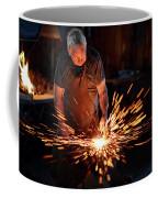 Sparks When Blacksmith Hit Hot Iron Coffee Mug