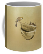 Sparrow And Bowl Of Cherries Coffee Mug