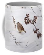 Sparrow In The Winter Snow Coffee Mug