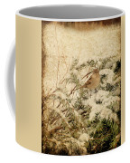 Sparrow In Winter I - Textured Coffee Mug