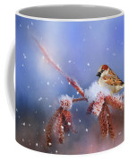 Sparrow In Winter Coffee Mug