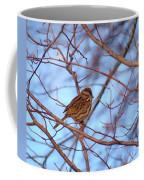 Sparrow On Blue Coffee Mug