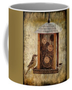 Sparrow On The Feeder Coffee Mug