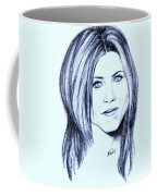 Speed Drawing Of Jennifer Aniston  Coffee Mug