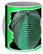Sphere In Green Coffee Mug