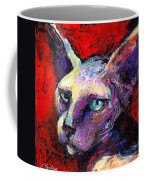 Sphynx Sphinx Cat Painting  Coffee Mug