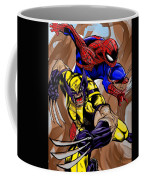 Spider And The Wolverine Coffee Mug