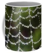 Spider Web Decorated By Morning Fog Coffee Mug