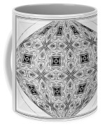 Spinning Globe In Black And White Coffee Mug
