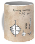 Spinning Top Or Toy Patent Art Coffee Mug