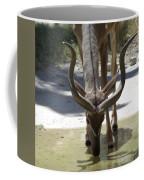 Spiral Horned Antelope Drinking Coffee Mug