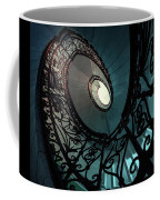 Spiral Ornamented Staircase In Blue And Green Tones Coffee Mug
