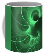 Spiral Thoughts Green Coffee Mug
