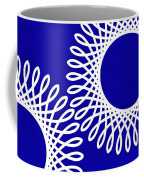 Spirals With Blue Coffee Mug