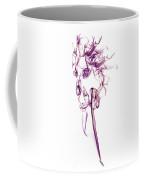 Ghostly Smoke - Magenta Coffee Mug