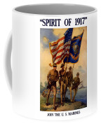 Spirit Of 1917 - Join The Us Marines  Coffee Mug by War Is Hell Store