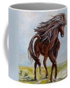Splashing The Light - A Young Horse Coffee Mug