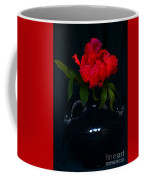 Splendid Peony In Vase. Coffee Mug