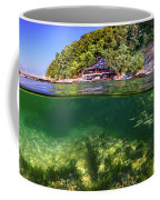Split Level Reef And Trees With Pier Coffee Mug