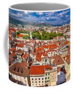 Split Old City Center Aerial View Coffee Mug