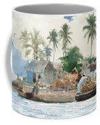 Sponge Fisherman In The Bahama Coffee Mug by Winslow Homer