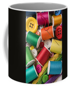 Spools Of Thread With Buttons Coffee Mug