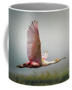 Spoonbill In Foggy Bayou Coffee Mug