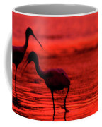 Spoonbills At Sunset Coffee Mug